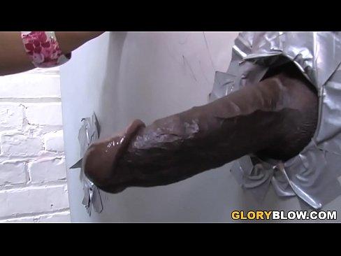 Kerry Louise Deepthroats and Fucks BBC - Gloryhole