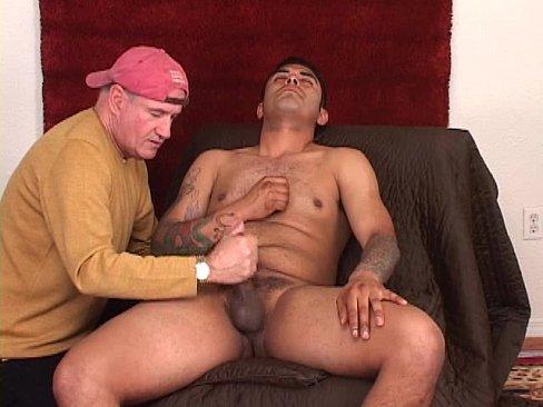 Mans gay first handjob