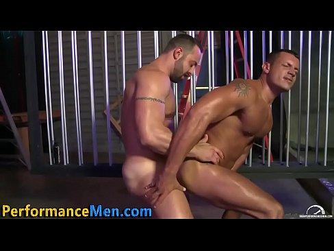 Buff Hung Stud Takes Cock