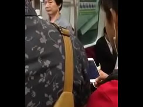 Wild Hardcore Asian Chikan Train Sex