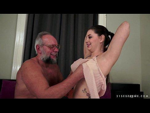 Angelina Brill fucks an older gentleman