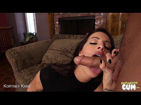 Sexy Kortney Kane swallows cum