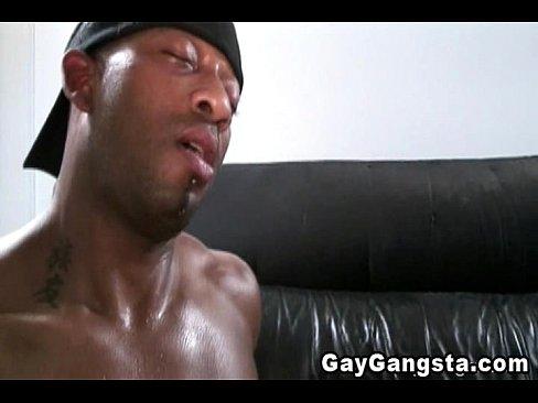 Nasty Ass Gangster Gets A Cumshot