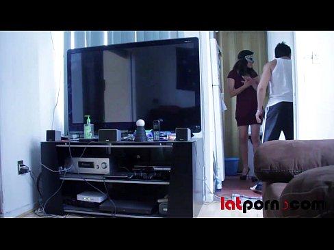 Latina Teen Sucks Neighbour Dick