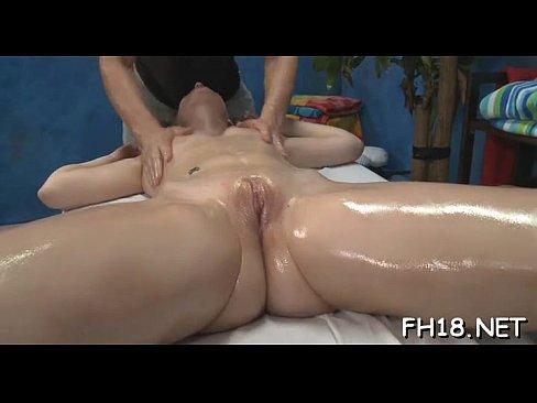 Naked blonde having orgasm