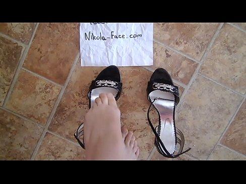 Video high heel sexy mule slippers