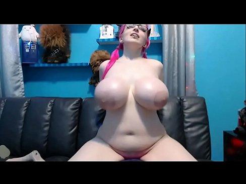 male-pink-hair-big-tits