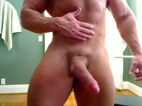 HUGE Bodybuilder Big Dick Wank LIVE on www.HornyBroCam.com