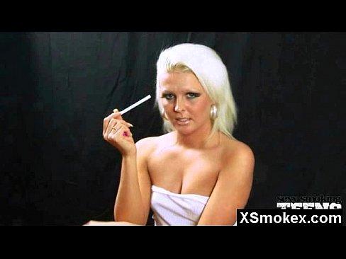 Smoking Cigarette Close Up