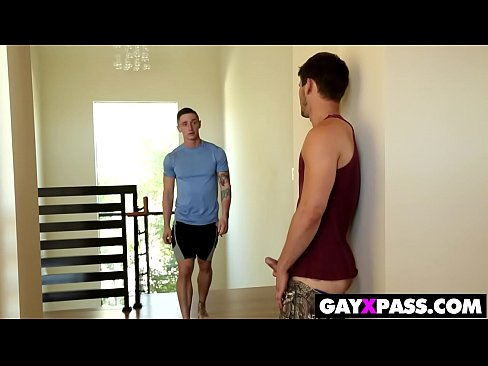 Amazing gay foursome fucking and cumming
