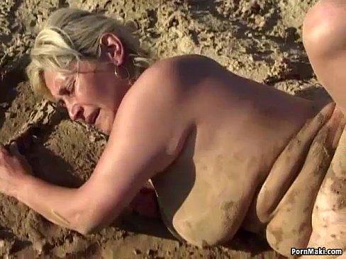 Mud covered girl fucked hard door girl next