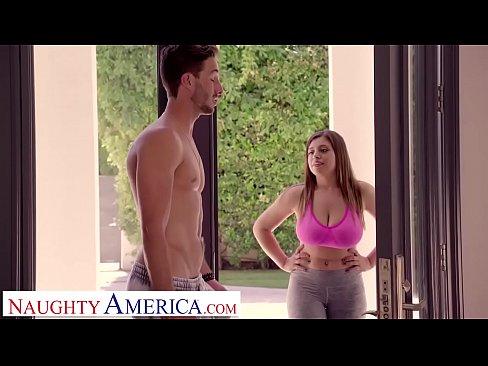 Exotic big tit brunette ella knox massage fuck