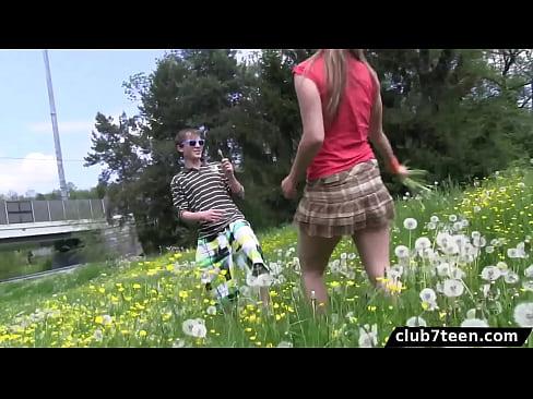 Club7teen - Outdoor fuck by teen couple