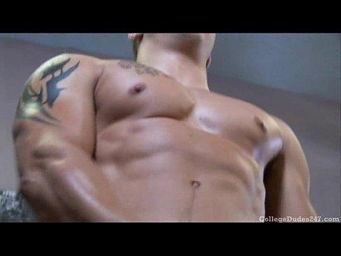handsome hunk in tattooes masturbates