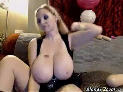 Bbw big tits blonde