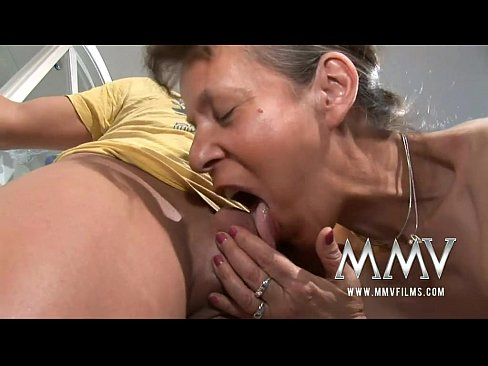 Young guy cant resist grannies pussy