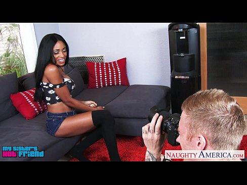 Busty ebony Anya Ivy suck and fuck a big dick