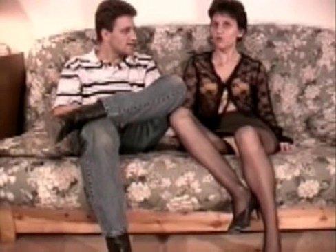 Mature analfucked in stockings