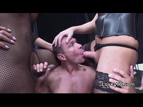 Big Black Tits Threesome