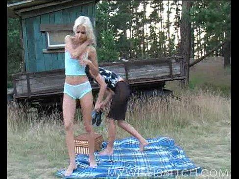 Naked wifes bored turn lesbian