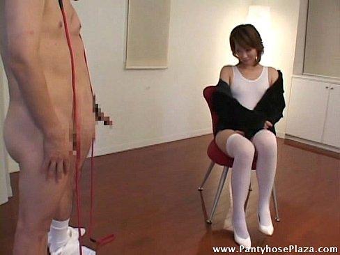 Footjobs in pantyhose