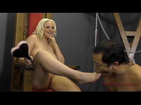 Blonde Bombshell Makes Her Slave Worship Her - Jenna Ivory