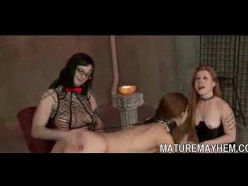 Mature slaves spank